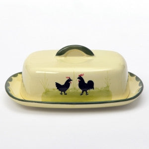 Zeller Cocks & Hens Butter Dish with Lid 250g