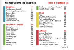 "NEW: *PRINTED* Pro Checklists: 100 ""Reference card"" pages of Best Practices, Guidelines and Summaries for all photographers."