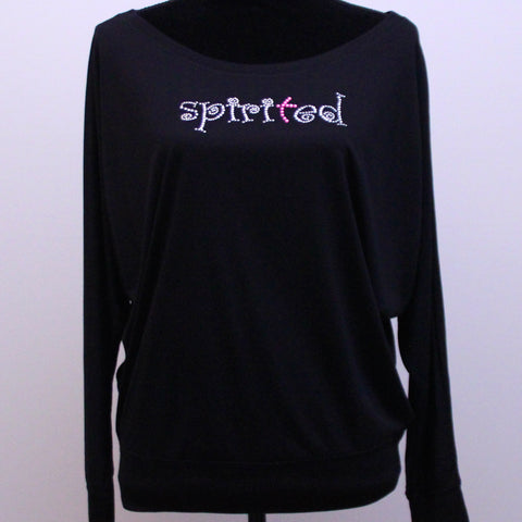 Flowy Long Sleeve Shirt- Spirited Bling