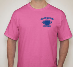 Blessed Sacrament Pink  Football Tee