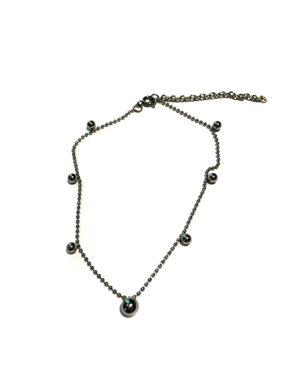 Ball Chain Anklet | Stainless Steel | Light Years Jewelry