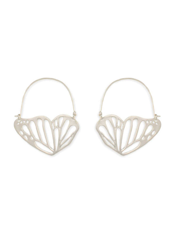Butterfly Wing Hoops | Gold or Silver Fashion Earrings | Light Years