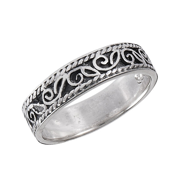 Silver Leaf Design Ring, $14 | Sterling Silver | Light Years Jewelry