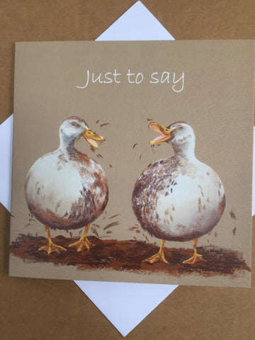 Mucky Ducks Greeting Card