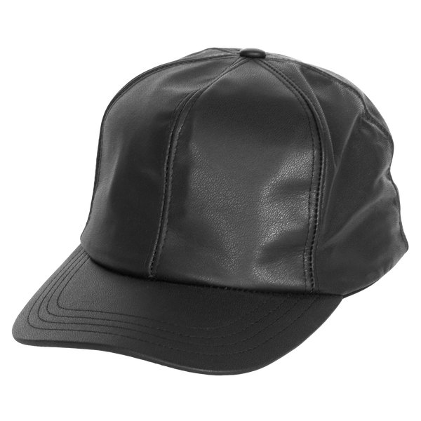 Fitted Leather Baseball Cap by Levine Hat Co.