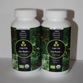 Twin Pack Organic Moringa Capsules x2 (Great for Nutrition)