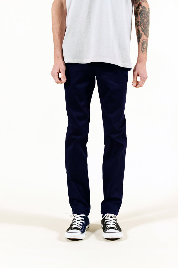 NAVY | SUMMER CHINO SLIM - Rustic Dime - Made in USA