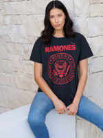 Ramones Boy T In Washed Black