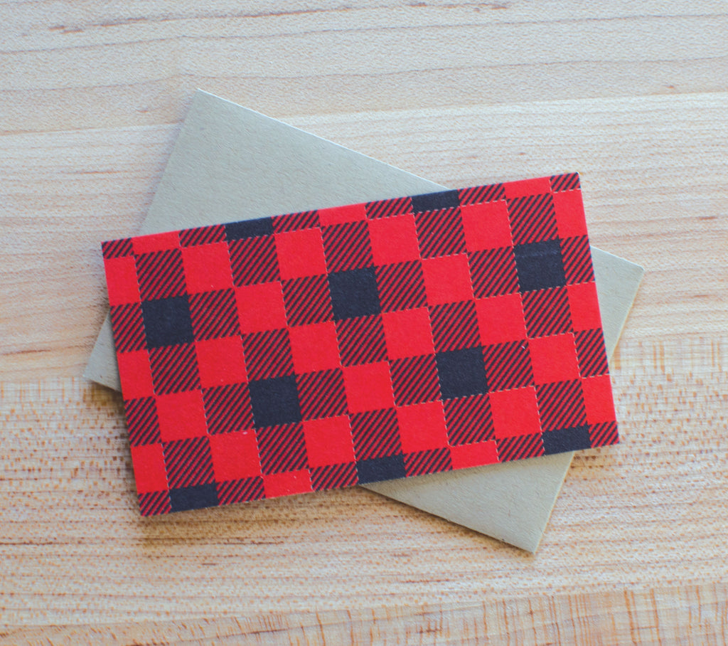 Buffalo Plaid Enclosures Set of 6