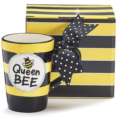 "Picture of Whimsical ""Queen Bee"" 13 oz. Ceramic Coffee Mug - 4 Pack"