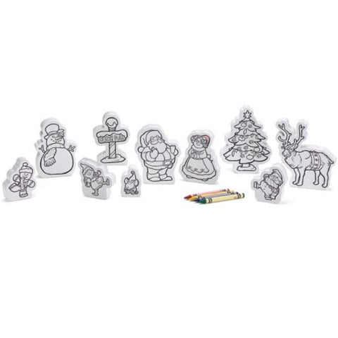 Picture of Wooden Color Me Christmas Characters 10 Piece Set