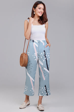 Backorder* Jubilee Graphic Culottes in Jade