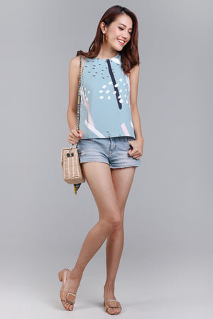Backorder* Jubilee Graphic Top in Jade