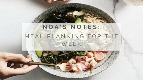Noa's Notes: Meal Planning For The Week