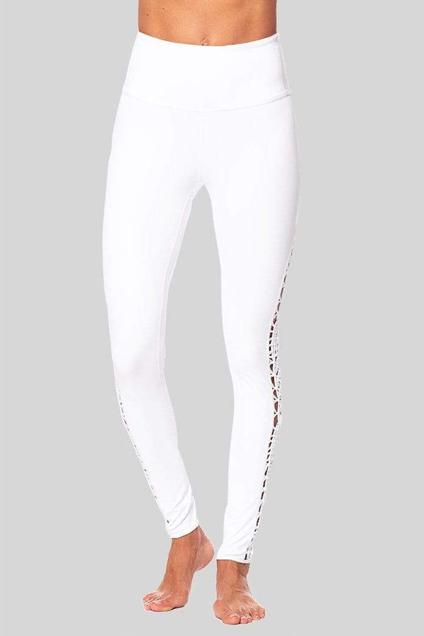 Lucy Full Legging, White | Vie Active