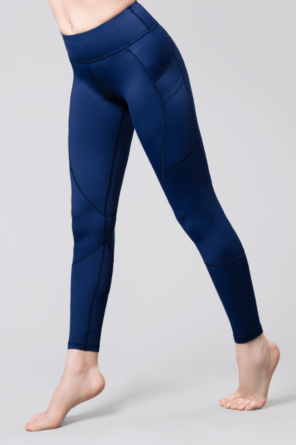 Riley 7/8 Double Pocket Legging, Ink Blue | Vie Active