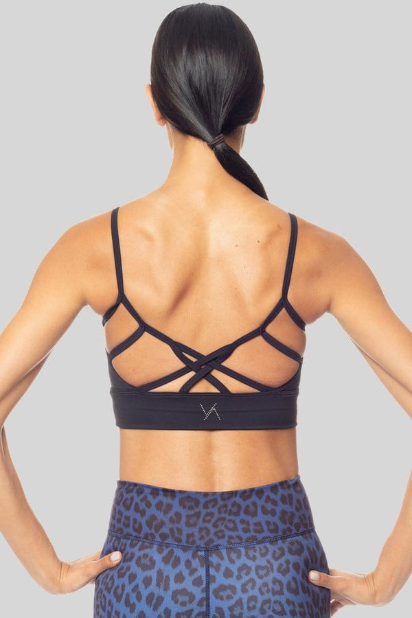 Kimberly Longline Bralette, Black | Vie Active