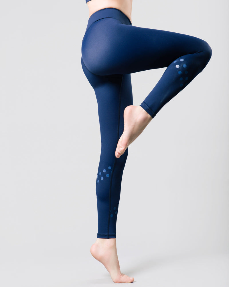 Rockell 7/8 Legging, Ink Blue Logo Dot | Vie Active