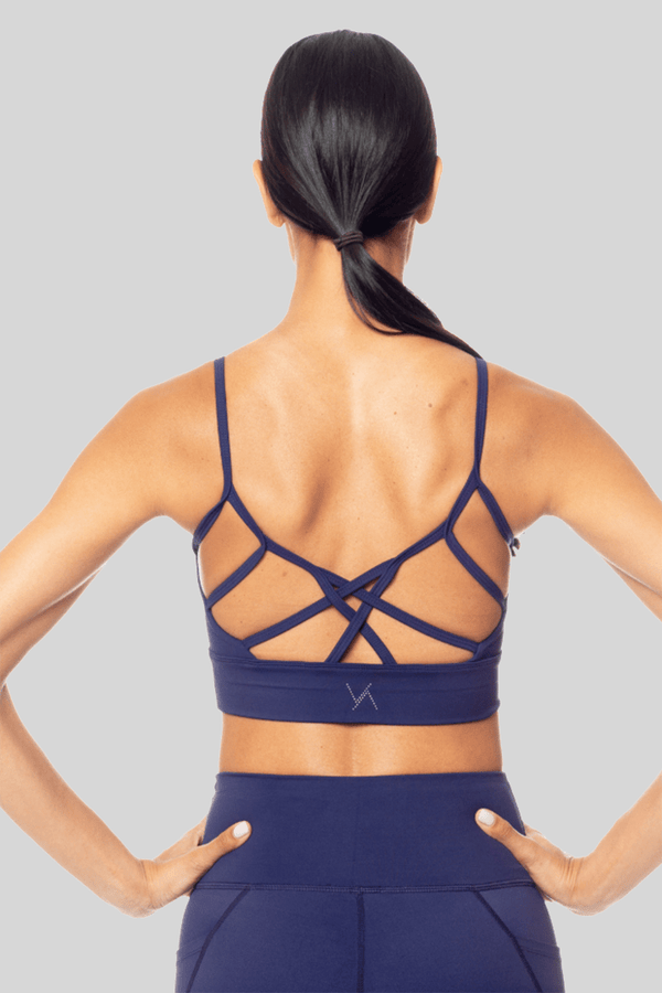 Kimberly longline Bralette, Ink Blue | Vie Active