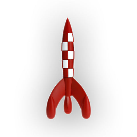8cm Tintin red and white rocket
