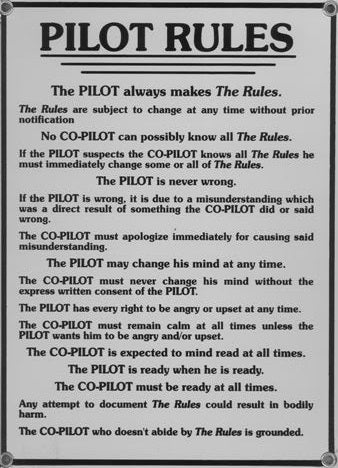 """Pilot Rules"" Sign"