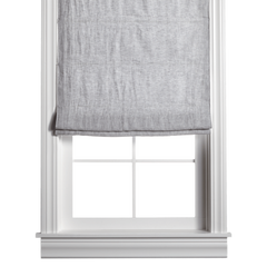 Barn & Willow | Belgian Flax Linen Roman Shade - Mist Gray product image