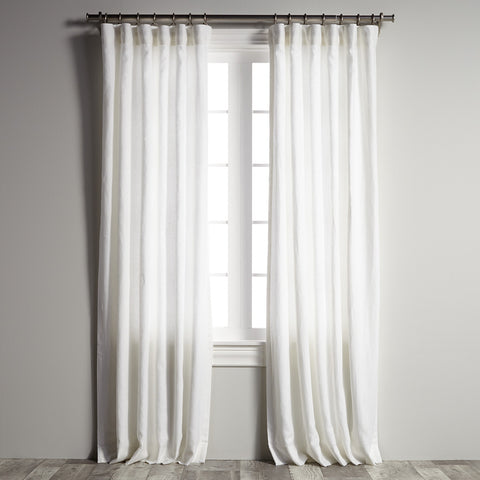 Belgian Flax Linen - Optic White Panel