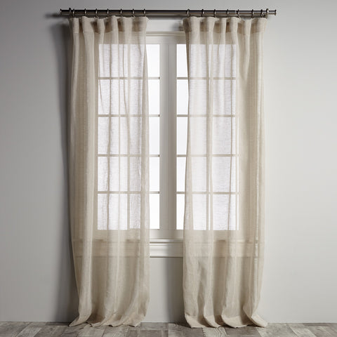 Belgian Sheer Linen - Oatmeal Panel