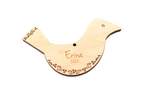 personalized bird ornament