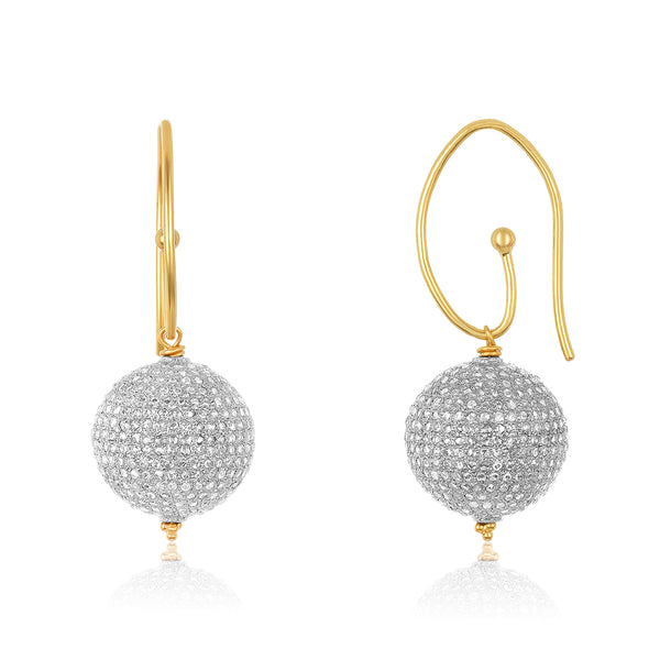 Diamond Ball Earrings