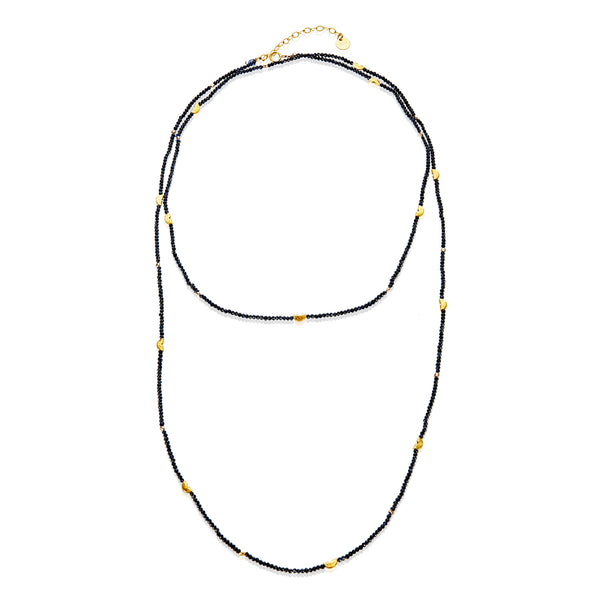 Half Moon Long Strand Necklace