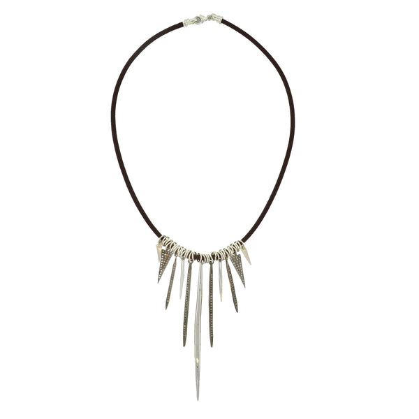 Leather Spike Necklace