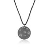 Circle Pave Diamond Necklace