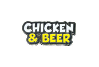 Jillionaire - Chicken & Beer Text Pin