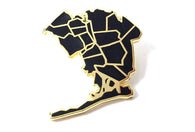 J Frost Queens Borough Pin - Black and Gold