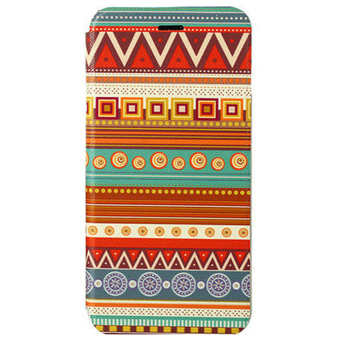 Tribe Pattern Stand Leather Case for iPhone 6 - BoardwalkBuy