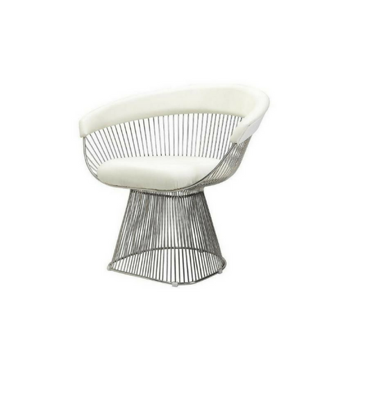 Full Leather Platner style Chair - Onske  - 1