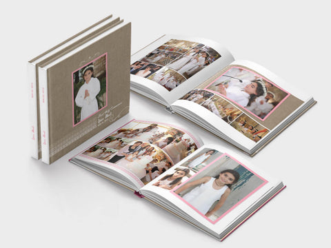 First Communion photo book - square format - soft paper