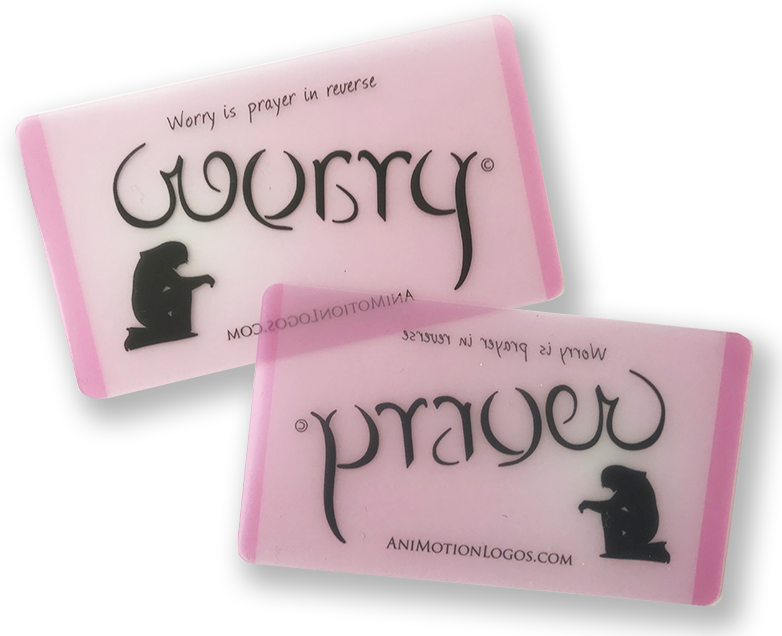 Worry Prayer Wallet Cards - Set of 100 - SPECIAL PRICING - PINK