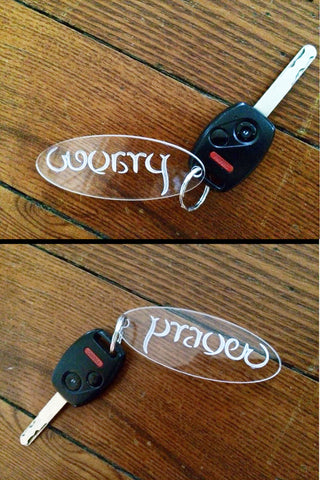 Worry Prayer Clear Acrylic Keychains (Set of Two)