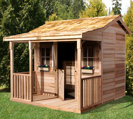 Cedarshed Bunkhouse Kit with Gable Porch