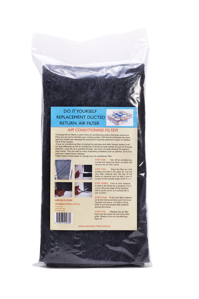 Air Conditioner filter material/media in a plastic bag