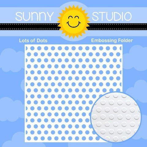 "Lots of Dots 6""x6"" Embossing Folder by Sunny Studio Stamps"