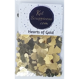 Hearts of Gold Sequin Mix - Shaker Card Fillers - NEW! - Kat Scrappiness