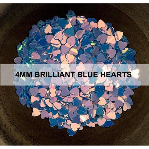 4mm Brilliant Blue Hearts - Sequins