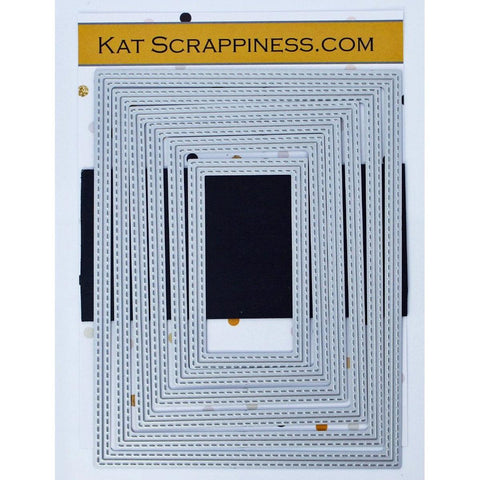 Double Stitched Rectangle Dies by Kat Scrappiness - NEW! - Kat Scrappiness