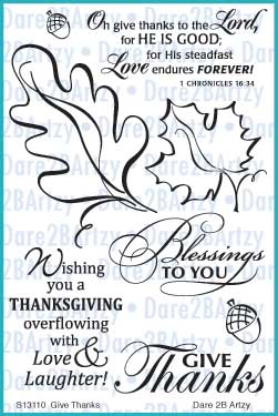 Give Thanks Stamp Set