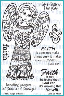 Angel of Faith Stamp Set
