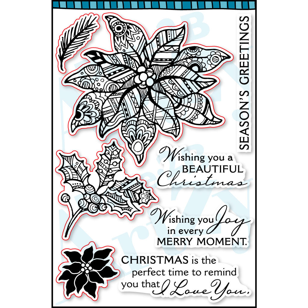 Poinsettia Tangle Stamp Set
