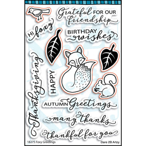 Foxy Greetings Stamp Set